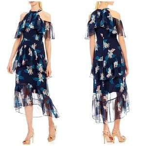NWT Antonio Melani Floral Cold Shoulder Midi Dress